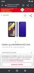 Celular LG k22 azul 32gb tela 6.2 ram 2gb