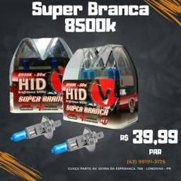 Par Lampada Super Branca H1 8500k Tipo Xenon 12v 55w