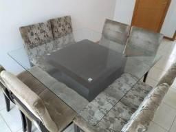 Mesa 8 lugares em vidro temperado