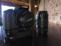 Canon T3i + 2 lentes + grip