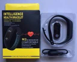 Relógio Inteligente Medidor De Frequência Cardíaca Fit M2 Bluetooth Novo na Caixa