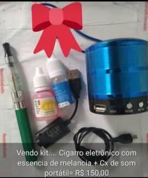 Kit caixinha de som portátil + eletrônico com essência de melancia