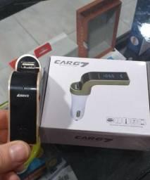 Adptador Bluetooth fm ou via cabo p2