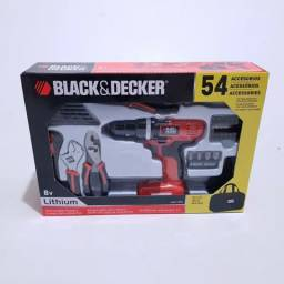 Kit Parafusadeira de lítio íon Black & Decker 8V - LDX172PK-BR