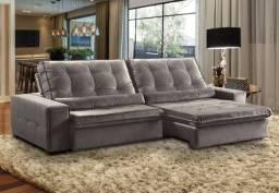 Sofá Confort 2,90m Molas Ensacadas