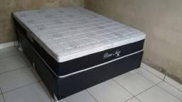;; Promoçao Cama Box + Colchao Bossa Nova casal 138x188 confira