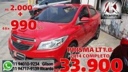 GM - Prisma 1.0 LT - 2014 - Financiamento sem Entrada.