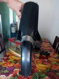 Paralama dianteiro factor 125 preto com suporte de paralama