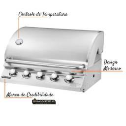 Churrasqueira A Gás Embutir Mikazza Pro 5