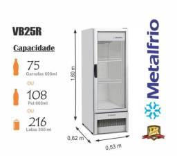 Geladeira Expositora Frost Free Porta de Vidro Vb25 Vb28 Vb40 Metalfrio