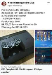PS3 Completo HD 500 gigas<br>28 jogos no HD