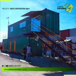 Sede Coorporativa em Container 60m²