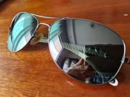 Óculos original Rayban espelhado fibra de carbono