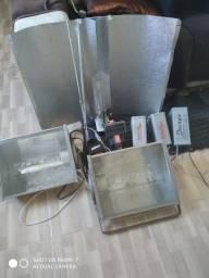 Kit refletor 600w e 2 de 400w kit cultivo indoor