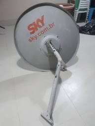 Antena Sky<br>Vendo Antena Parabólica (60 Cm) Com Lnb Duplo   Usado<br><br><br>