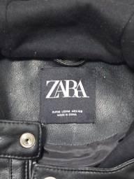 Jaqueta de couro masculina Zara + brinde Cachaça Ypioca