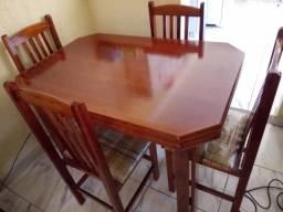 Mesa 4 cadeiras para sala de jantar