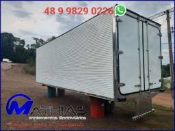 Título do anúncio: Baú frigorifico 7.50m   14 paletes  altura interna 2.20m Piso de aluminio canaletado