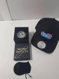 Relógio + pulseira 925 + boné