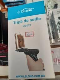 Tripé de selfie promoção até o estoque acabar