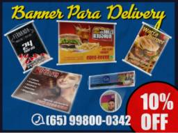 Banners para Delivery Peça pelo Whatsapp