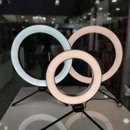 Iluminador Ring Light - 25 cm - c/ Tripe e Suporte - LAM-8478 - Inova