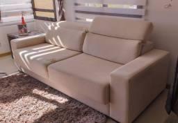 Sofá 3 lugares com chaise usado