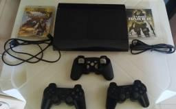 Playstation 3 SLIM + 63 jogos em Recife, Pernambuco
