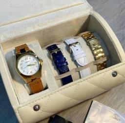 Kit Relógio Feminino Orient - troca pulseira