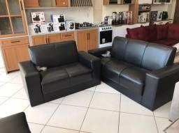 Sofa Tecido Em Corino  Buzios  D26 2e3 Lugares (Promoção)