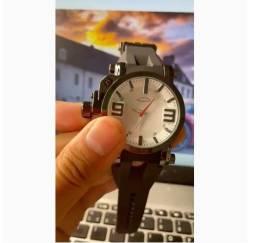 Relógio Oakley Gearbox Titanium Pulseira de Borracha Vidro De Safira