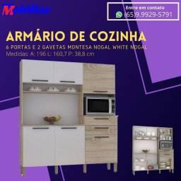 Armario de Cozinha 6 portas 2 gavetas