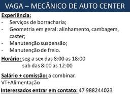 Título do anúncio: Vaga Mecânico Auto Center e Borracharia
