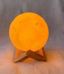 Luminária Umidificadora Abajur Lua Cheia 3D 880ml