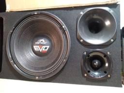 "Caixa TRIO 12"" Hinor EVO 550RMS novo"