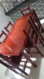 Mesa de madeira nova 6 cadeiras