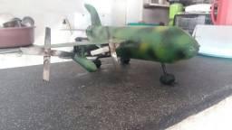 Título do anúncio: Avião feito 100% em chapa inox ant ferrujo.