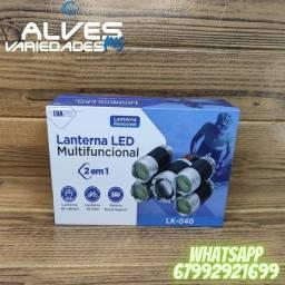 Título do anúncio: Lanterna LED multifuncional 2 in 1 LK-040