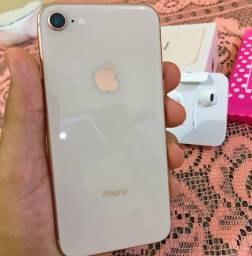 Título do anúncio: iPhone 8 64GB Gold (zero) - Caixa + todos os acessórios