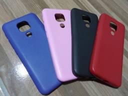 Capa de silicone Motorola G9 Play e Xiaomi Redmi 9