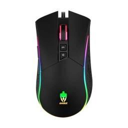 Mouse Gamer Lynx c/ led Evolut 3200DPI novo e com garantia