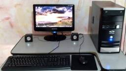 Pc Completo, Core 2 Duo, 4gb Ram, hd 500gb, Monitor 16, Caixas de Som