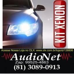 Kit Xenon Com Reator Digital 4300k 6000k 8000k Carro