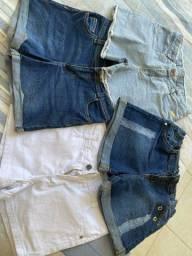 Shorts jeans infantis (lote)