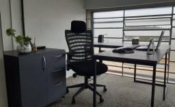 Cadeira Presidente Ergo Tek Tela Mesh Preta Reclinável Escritório Giratória Home Office