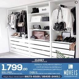 Closets e super closets planejados 100% em MDF / Entrega grátis