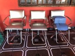 Kit cadeira de cabeleireiro