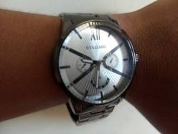 Relógio Estilo Bvlgari Prata