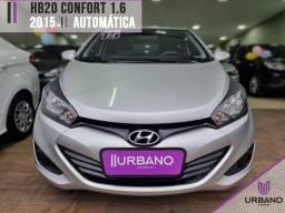 Título do anúncio: Hyundai Hb20 2015 1.6 comfort plus 16v flex 4p automático