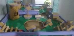 Casa de Barbie 3 andares mais móveis em MDF
